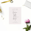 Blush Pink Minimal Save the Dates