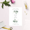 Simple Elegant Eucalyptus Save the Dates