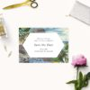 Amalfi Coast Island Destination Wedding Invitations