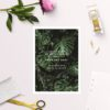 Modern Tropical Jungle Monstera Leaves Save the Dates
