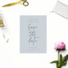 Dusty Blue Minimal Save the Dates