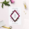 Burgundy Crimson Botanical Greenery Save the Dates