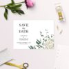 Classic Gum Tree Eucalyptus Leaves Native Save the Dates