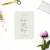 Pale Olive Green Minimal Save the Dates