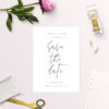 Crisp White Minimal Save the Dates