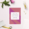 Edgy Modern Hot Pink Fuchsia Save the Dates