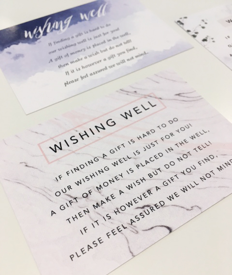 Wishing Well Wording Examples