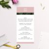 Modern Monstera Tropical Pink Wedding Menus