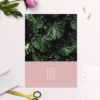 Modern Monstera Tropical Leaves Pink Wedding Invitations