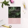 Modern Monstera Tropical Pink Save the Dates