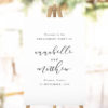 Simple Elegant Cursive Writing Engagement Welcome Sign