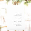 Modern Simple Minimal Engagement Party Welcome Sign