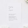 Cursive Hand Writing Modern Minimal Wedding Invitations