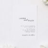 Cursive Hand Script Simple Modern Minimal Wedding Invitations