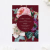 Red Burgundy Rose Floral Wedding Invitations