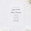Modern Minimal Cursive Writing Wedding Invitations