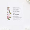 Elegant Magnolia Flowers Wedding Invitations