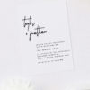 Large Feature Hand Writing Modern Minimal Wedding Invitations