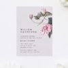 Stunning Modern Botanical Pink Bridal Shower Invitations