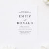 Bold Centre Names Classic Simple Engagement Invitations