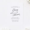 Stunning Calligraphy Flourishes Engagement Invitations