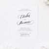 Stunning Flowy Calligraphy Script Flourishes Classic Engagement Invitations