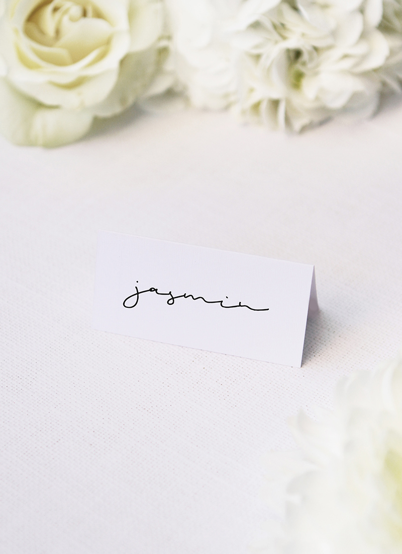 Natural Chic Modern Minimal Name Place Cards Natural Chic Modern Minimal Hand Writing Wedding Invitations