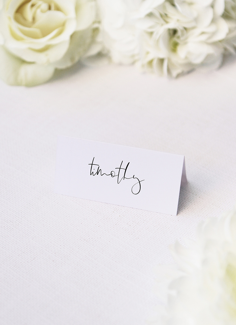 atural Relaxed Free Modern Minimal Hand Script Name Place Cards Natural Relaxed Free Modern Minimal Hand Script Wedding Invitations