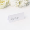 Cursive Hand Writing Modern Minimal Name Place Cards Cursive Hand Writing Modern Minimal Wedding Invitations