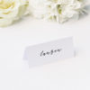 Cursive Hand Script Simple Modern Minimal Name Place Cards Cursive Hand Script Simple Modern Minimal Wedding Invitations