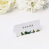 Modern Botanical Leaf Name Place Cards Modern Botanical Leaf Wedding Invitations