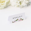 Elegant Magnolia Flowers Name Place Cards Elegant Magnolia Flowers Wedding Invitations