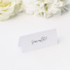 Modern Minimal Sophisticated Hand Cursive Name Place Cards Modern Minimal Sophisticated Hand Cursive Wedding Invitations