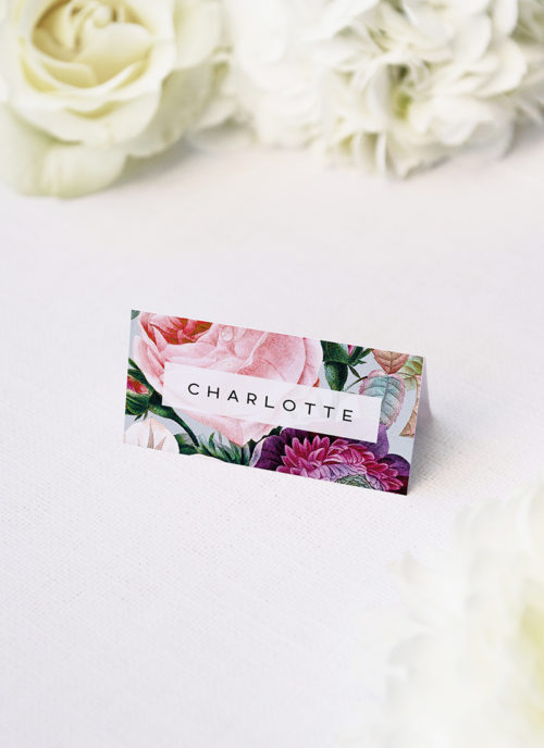 Elegant Rose Bouquet Floral Name Place Cards Elegant Rose Bouquet Floral Name Place Cards Elegant Rose Bouquet Floral Wedding Invitations