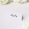 Modern Minimal Cursive Hand Brush Script Name Cards Modern Minimal Cursive Hand Brush Script Wedding Invitations