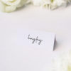Clean Simple Modern Minimal Brush Script Name Cards Clean Simple Modern Minimal Brush Script Wedding Invitations
