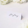 Minimal Contemporary Hand Writing Script Name Cards Minimal Contemporary Hand Writing Script Wedding Invitations