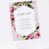 Floral Garden Foliage Bridal Shower Invitations
