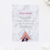 Pink Hydrangea Geometric Rose Gold Engagement Invitations