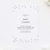 Grey Confetti Baby Shower Invites