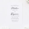 Loose Free Natural Elegant Cursive Script Engagement Invitations