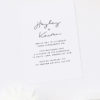 Modern Hand Script Font Contemporary Engagement Invitations