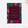 Floral Burgundy Engagement Invitations