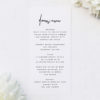 Contemporary Hand Writing Modern Minimal Wedding Menus Contemporary Hand Writing Modern Minimal Wedding Invitations