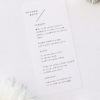 Classy Minimal Layout Feature Line Wedding Menus Classy Minimal Layout Feature Line Wedding Invitations