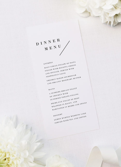 Large Bold Capital Letters Feature Names Wedding Menus Large Bold Capital Letters Feature Names Wedding Invitations