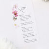 White Pink Daisies Wedding Menus White Pink Daisies Wedding Invitations