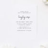 Modern Simple Font White Christening Invitations