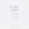 Clean Modern Simple Script Font Engagement Invitations