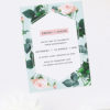 Floral Rose Mint Green Pastel Engagement Invitations